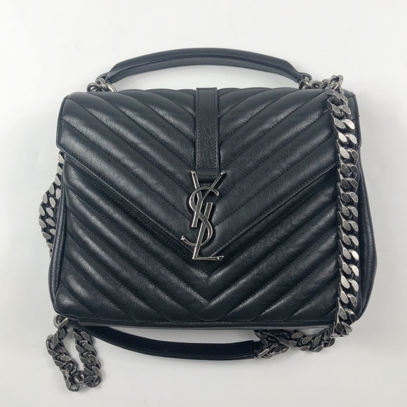 e86410b50e42 Yves Saint Laurent Medium College Bag Matelasse. M 5b60a6de194dada797d1ef79